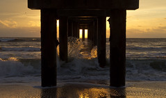st. johns county pier at dawn (William Miller 21) Tags: ocean beach nature water sunrise pier florida wave staugustine