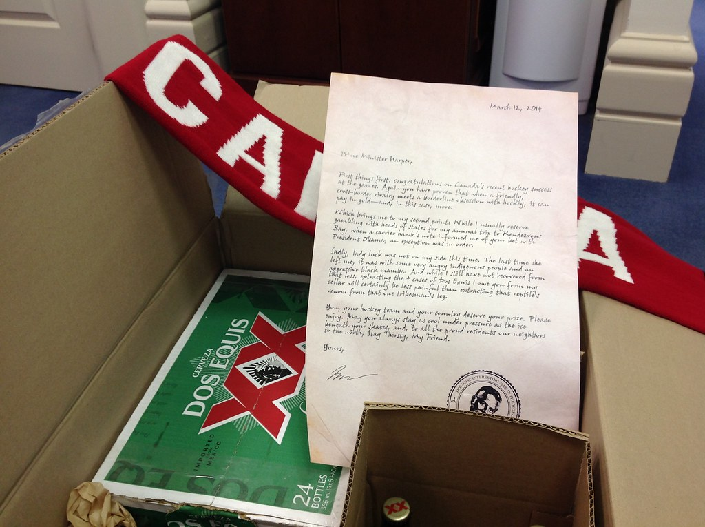 This package from @DosEquis just arrived at my office in congratulations of our @CDNOlympicTeam! #cdnpoli