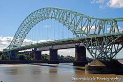 Runcorn bridge (jonnywalker) Tags: bridge river manchester canal warrington cheshire railwaybridge runcorn widnes manchestershipcanal runcornbridge