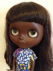 African American Blythe Doll Custom (vintagecitygem) Tags: black coffee nose gold one montana dress body african sandals ooak painted champs barbie skipper carving lips spray kind nostril american dome jelly blythe custom elysees licca dyed petit dejeuner cacao scalp eyechips brainworm philtrum