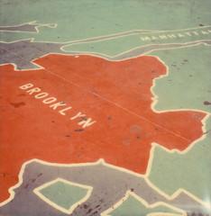 Brooklyn (daveknapik) Tags: nyc newyorkcity newyork film brooklyn polaroid sx70 map maps instant polaroidsx70 polaroidsx70sonar impossibleproject cpf20 colorprotectionfilm20