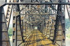 C&O RY Sciotoville / Limeville Bridge KY OH 1997 (cogp39) Tags: bridge ohio kentucky corailway limeville