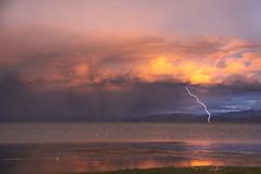 manasarowar lake (rongpuk) Tags: sunset mountain storm mountains rain trekking trek tibet tibetan himalaya manasarowar tunder