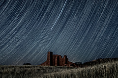Star Trail at Abo (Mitch Tillison Photography) Tags: longexposure sky newmexico night timelapse ruins pueblo nationalmonument spanishmission startrail mountainair abomission tamron2875mmf28 salinaspueblomissionnationalmonument abounit pentaxk30