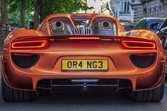 Number Plate orange