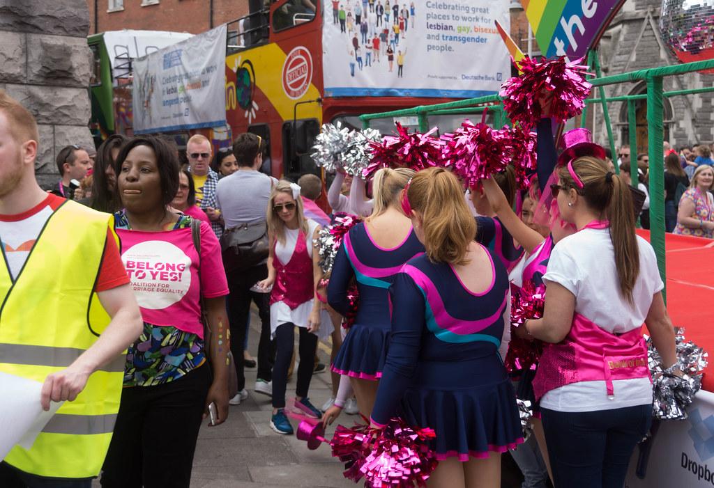 DUBLIN 2015 GAY PRIDE FESTIVAL [BEFORE THE ACTUAL PARADE] REF-106253
