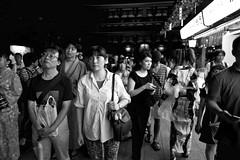 Spectator (harumichi otani) Tags: bw monochrome tokyo streetphotography streetphoto asakusa bwphotography blackandwhitephotography japanphotography japanstreetphotography japanbwphotography