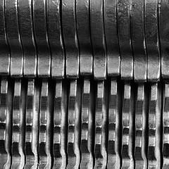 Mysterious 16 (arbyreed) Tags: arbyreed blackandwhite bw close closeup metal brass key keyedalikekeys ridges abstract madeofmetal lock mysterious
