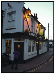 The Peter Boat, Leigh on Sea (exreuterman) Tags: sony a7 viltrox canon ef 28mmf28is leigh essex southend estuary thames river sunset twilight pub peterboat ale food drinking seaside