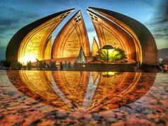 Pakistan monument (pro_haltaf) Tags: pakistanmonument landscape evening captured beautiful mobilephotography photography sunset sky lights reflection mirror pakistan