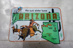 The Sun's Winter Home (avilon_music) Tags: arizona traveldecal vintagedecals sunshinestate cowboys cowgirl americana sonyrx100m2 decal southwest