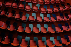 17022528 (felipe bosolito) Tags: red chairs rows abstract fuji xpro2 velvia xf1855
