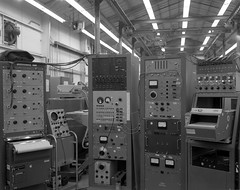 Atlas Collection Image (San Diego Air & Space Museum Archives) Tags: modallab atlas centaur vibration testequipment instrumentation lab 1961 rack eiarack meter hewlettpackard plotter xyplotter analog amplifier modal bridgecrane tektronix