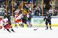 "Missouri Mavericks vs. Allen Americans, March 10, 2017, Silverstein Eye Centers Arena, Independence, Missouri.  Photo: © John Howe / Howe Creative Photography, all rights reserved 2017 • <a style=""font-size:0.8em;"" href=""http://www.flickr.com/photos/134016632@N02/33250998262/"" target=""_blank"">View on Flickr</a>"
