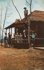 The First Hangin' In Ghost Town, Ghost Mountain Park, Maggie Valley NC (SwellMap) Tags: vintage advertising death pc 60s dummies fifties postcard kitsch retro nostalgia crime chrome western murder violence amusementpark hanging americana deathvalley 50s tacky roadside dummy themepark sixties frontier midcentury lynching oldwest frontiertown effigies waxmueum