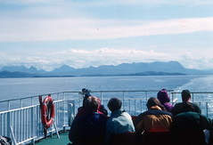 Hills of Sutherland from ferry to Lewis (1996) (Duncan+Gladys) Tags: uk scotland rossandcromarty