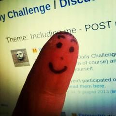 selfportrait at Chieri (stegdino) Tags: selfportrait finger dito faccia facciadito