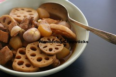 Thit Heo Kho Cu Cai Trang Cu Sen (Vietnamese Braised Pork with Daikon and Lotus Roots) 15 (wanderingchopsticks) Tags: cu vietnamese lotus pork daikon cai root kho radish sen trang braised thit heo wanderingchopsticks