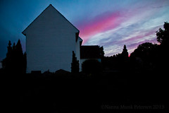 IMG_7309 (Nanna Munk) Tags: sunset church colors beautiful denmark cross tolne