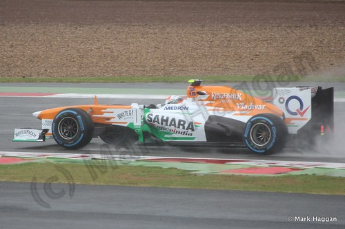 Adrian Sutil in Free Practice 1 for the 2013 British Grand Prix