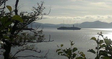 5 masted yacht visits oban
