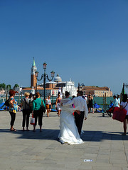 Romance (tubblesnap) Tags: venice wedding italy holiday st square groom bride canal san palace romance marks campanile marco gondola piazza doges