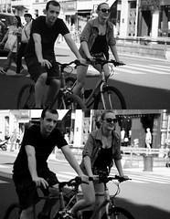 [La Mia Citt][Pedala] parecchio nelle Domeniche a piedi ... (Urca) Tags: portrait blackandwhite bw italia milano bn ciclista biancoenero bicicletta pedalare 2013 dittico 57561 domenicaapiedi ritrattostradale nikondigitalefilippetta