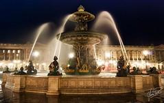 Place de la Concorde (Vctor PL) Tags: city paris france fountain night lights place trail concorde