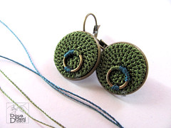 Crochet fiber textile green silk earrings (DouaMainiDibace) Tags: original thread fashion modern handmade crochet hipster craft jewelry jewellery textile handcrafted accessories earrings jewelery fiber boho minimalist bohemian artisan accesories handmadeearrings handmadejewellery crochetjewelry crochetearrings textilejewelry fiberjewelry fiberearrings textileearrings contemporaryfiberearrings