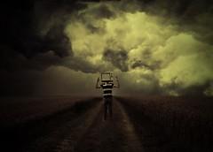 #028/100 Too much input (Rene Silbernagel) Tags: portrait selfportrait art field clouds self canon germany way myself eos 50mm warm dream rene surreal pixel 365 emotional 18 miss tilt input existence 2013 550d silbernagel 365100