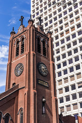 Time Two Ways (katejbrown photography) Tags: sanfrancisco building clock church chinatown time streetphotography katejbrown