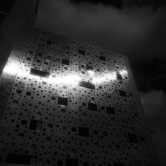 Parking Structure (michael prince) Tags: film architecture dark ir scotland glasgow hasselblad infrared medium format efke