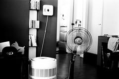 Hi (Philip@Tamsui) Tags: leica blackandwhite bw film home analog fan kodak 400 m3  doublex  leicam3 summitar  leicam3ds leicasummitar50mmf20ltm