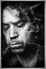 (soulshine59) Tags: blackandwhite selfportrait canon5d humanemotion niksoftware homemadetextures photoshopelements9