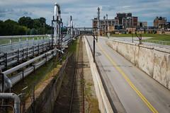Kodak Tracks (-dangler) Tags: road city railroad summer ny newyork train landscape outside outdoors industrial factory pipes scenic tracks rail pollution nys rochesterny westernnewyork wny dandangler