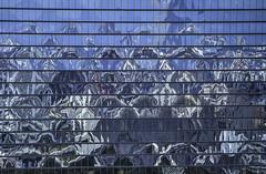 Building Reflections near Osaka Castle, Japan (inefekt69) Tags: city travel sky building japan night nikon view 大阪 日本 nippon osaka dslr nihon umeda d5100