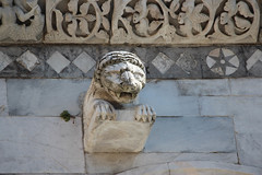 IMG_2821.jpg (She Curmudgeon) Tags: italy tower window angel facade madonna lion lucca column marble romanesque florence2013 pisanmarble