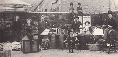 Hooper's rummage sale, Shaftesbury in 1898 (by Augustus James Bealing?) (pellethepoet) Tags: girls boys fashion kids children europe unitedkingdom photograph dorset groupportrait shaftesbury jameshooper augustusjamesbealing jahooper jamesalnerhooper elizabethfranceshooper albertupfield