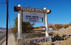 Silver State Lodge (rickele) Tags: forsale rip nevada motel reno demolished ghostsign paintedsign ushighway40 oldus40 usroute40 silverstatelodge