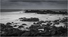 Sombre Lumière (Teaspoon29) Tags: sea mer lighthouse seascape france rock bulb landscape coast brittany novembre noiretblanc bretagne cote paysage phare rocher finistère lefour poselongue 2013 penarbed landunvez argentonenlandunvez nikkor1635