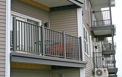 Balconies can be custom design/fabricated to fit each project.