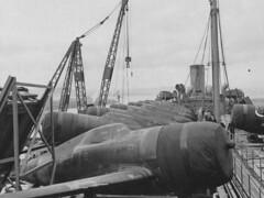 Republic P-47 Thunderbolts. Belfast, 8/8/43 (G.I.N.I) Tags: docks harbour belfast northernireland loc 1942 sydenham 1943 usarmy usaaf airforces langfordlodge lockheedoverseascorporation