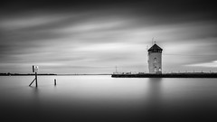 Bateman's Tower (Scott Baldock) Tags: longexposure sea england blackandwhite bw lighthouse tower art clouds creek marina canon river mono north fine estuary east filter essex clacton folly density colne neutral mersea batemans brightlingsea jaywick 24105l nd110 canon6d