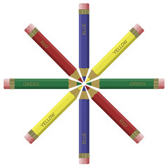 Coloured Pencils (rsherwoodpix) Tags: wood blue school red color colour green art geometric childhood yellow pencil circle creativity design education colorful artist drawing eraser nursery creative angles craft sharp tip colored teaching kindergarten colourful draw names crayon coloured primary tool stationary
