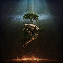 The Tree of Life (Robert Cornelius Photography) Tags: life lighting light shirtless portrait sky man tree guy art robert muscles collage composite mystery night clouds photoshop manipulated dark studio stars photography lights star photo fantastic vines model heaven arms arm legs artistic time body muscle good muscular photoshopped magic manly leg hell creative evil floating vine manipulation foliage created fantasy portraiture mysterious hanging imagination create float cornelius legend magical starry bicep photoshopping compositing imaginative manipulate fantastical composited robertcorneliusphotography creativephotoshopper