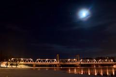 Joensuu By Night (s.niemelainen) Tags: bridge winter moon snow suomi finland river north moonlight scandinavia northern lumi talvi kuu joensuu silta joki karjala pielisjoki carelia kuutamo rautatiesilta pohjois