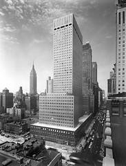 New York / Socony-Mobil Building, general view from N.E. / March 7, ca.1956 (cobravictor) Tags: old nyc newyorkcity ny skyline skyscrapers newyorkskyline 1956 oldphotographs oldnewyork midtownmanhattan soconymobilbuilding lookingview