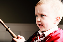 Determined (DarkElfPhoto) Tags: boy male kids children cosplay wand magic harry potter hogwarts gryffindor