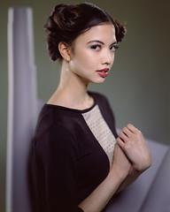 Amber (PeteTsai) Tags: female model kodak large 8x10 f45 300mm 400 format portra deardorff strobist
