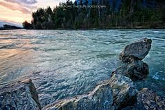 Before the sun goes down (em-si) Tags: sunset nature water river austria sterreich rocks wasser sonnenuntergang stones natur krnten steine gail fluss felsen villach schtt nikond800 nikon1635